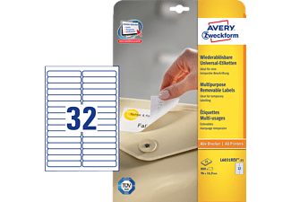 AVERY ZWECKFORM L6031REV-25, Universaletiketten