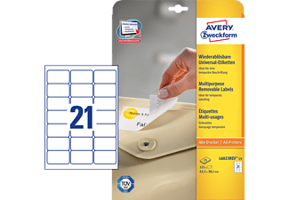 AVERY ZWECKFORM L6023REV-25, Universaletiketten