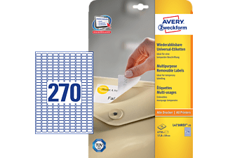 AVERY ZWECKFORM L4730REV-25, Universaletiketten