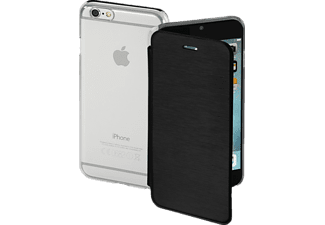 HAMA Clear, Bookcover, iPhone 6, iPhone 6s, High-Tech-Polyurethan (PU)/Kunststoff, Schwarz