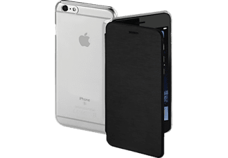 HAMA Clear, Bookcover, iPhone 6 Plus, iPhone 6s Plus, High-Tech-Polyurethan (PU)/Kunststoff, Schwarz