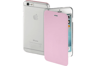 HAMA Clear, Bookcover, iPhone 6s, High-Tech-PU/Kunststoff, Rosa/Transparent