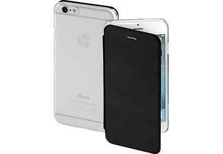 HAMA Clear, Bookcover, iPhone 6s, High-Tech-PU/Kunststoff, Schwarz/Transparent