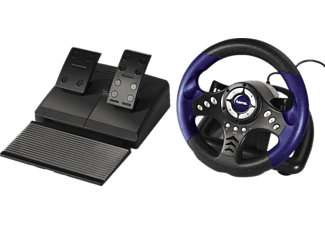hama 062865 pc racing wheel thunder v18 lenkr der. Black Bedroom Furniture Sets. Home Design Ideas