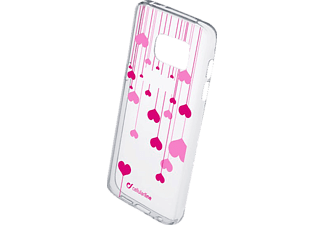 CELLULAR LINE 37743 STYLE CASE HEART, Backcover, Galaxy S7, Thermoplastisches Polyurethan, Transparent/Bedruckt