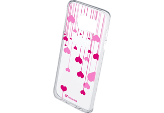 CELLULAR LINE 37744 STYLE CASE HEART Galaxy S7 Edge Handyhülle, Transparent/Bedruckt