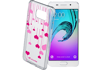 CELLULAR LINE HEART Backcover Samsung Galaxy A3 (2016) Thermoplastisches Polyurethan Transparent