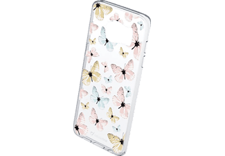 CELLULAR LINE 37740 STYLE CASE BUTTERFLY, Backcover, Galaxy S7 edge, Thermoplastisches Polyurethan, Transparent/Bedruckt