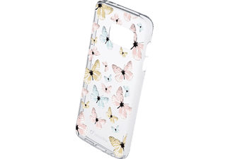 CELLULAR LINE Style Case Butterfly, Backcover, Galaxy S7, Thermoplastisches Polyurethan, Transparent