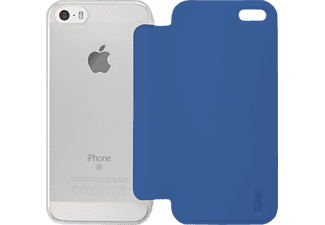 ARTWIZZ SmartJacket®  Apple iPhone 5, iPhone 5s, iPhone SE Polyurethan im gebürsteten Metall-Design Blau