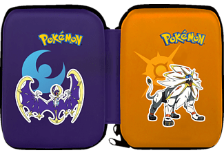 HORI Pokemon Mond & Sonne Hard Pouch New 3DS XL Tasche , Pokemon Tasche, Dunkelblau/Orange