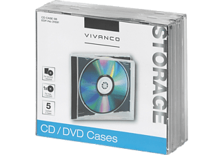 VIVANCO CD/DVD fodral 5st