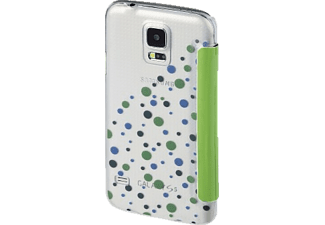 HAMA Candy Drops, Bookcover, Galaxy S5 (Neo), Galaxy S5, Grün/Transparent
