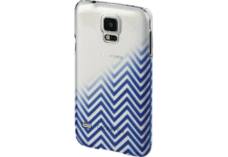 HAMA Blurred Lines Backcover Galaxy S5 (Neo), Galaxy S5 Blau/Transparent