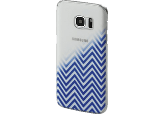HAMA Blurred Lines Backcover Galaxy S7 Blau/Transparent