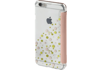 HAMA Candy Drops Bookcover Apple iPhone 6, iPhone 6S Polyurethan/Kunststoff Rosa/Transparent