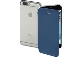 HAMA Clear Bookcover Apple iPhone 7 Plus High-Tech-Polyurethan (PU)/Kunststoff Dunkelblau