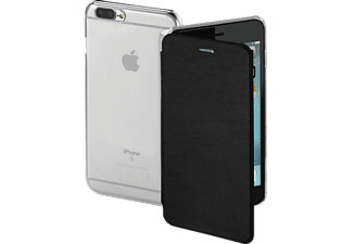 HAMA Clear Bookcover Apple iPhone 7 Plus High-Tech-Polyurethan (PU)/Kunststoff Schwarz