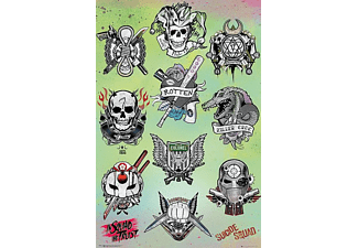 Suicide Squad Poster Tattoo Parlor