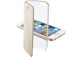 CELLULAR LINE 37709, Bookcover, iPhone 5, iPhone 5s, iPhone SE, Gold/Transparent