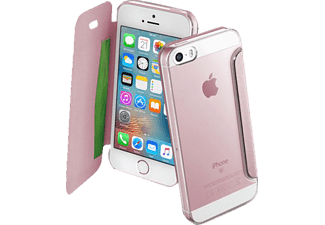 CELLULAR LINE 37707, Bookcover, Apple, iPhone 5, iPhone 5s, iPhone SE, Kunststoff, Pink/Transparent
