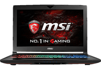 MSI GT62VR-6RDAC16H11, Notebook mit 15.6 Zoll Display, Core™ i7 Prozessor, 16 GB RAM, 128 GB SSD, 1 TB HDD, GeForce GTX 1060, Schwarz