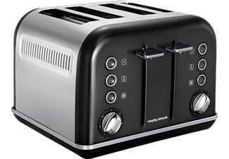 MORPHY RICHARDS 242018 Accents Toaster Schwarz (1880 Watt, Schlitze: 4)