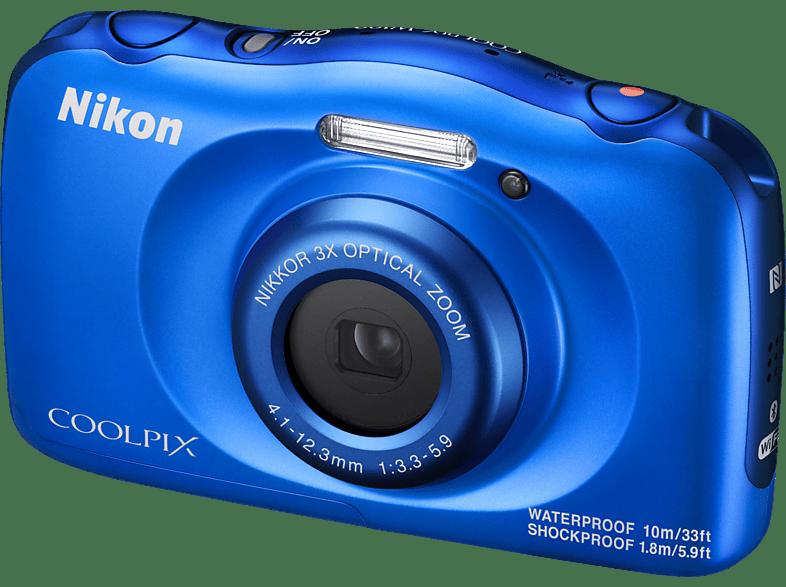 NIKON Coolpix W100 Digitalkamera, 13.2 Megapixel, 3x opt. Zoom, Blau