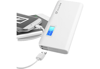 CELLULAR LINE 36408 FREEP10000W, Powerbank, 10000 mAh, Weiß