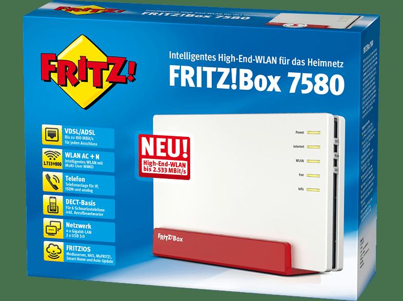 NEW FRITZ!Box 7580 AVM-20002761-FRITZ%21BOX-7580-VDSL-ADSL-Router