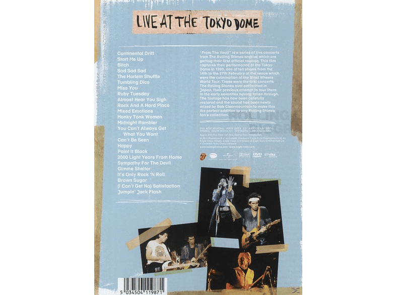 Rolling Stones - From The Vault - Live From the Vault Tokyo Dome 1990 [DVD] τηλεόραση   ψυχαγωγία μουσική dvds μουσική  ταινίες  βιβλία μουσική dvds