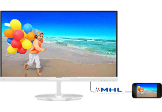 PHILIPS 234E5QHAW/00 23 inç 5 ms HDMI Full HD IPS Mönitör Beyaz