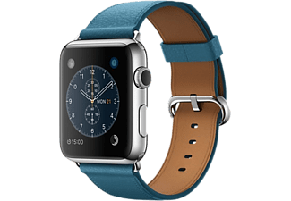 APPLE Watch 42mm - Steel med marinblått klassiskt spänne