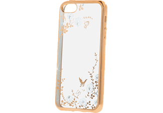 AGM 26395 Backcover Apple iPhone 5, iPhone 5s, iPhone SE Kunststoff (Obermaterial) Transparent/Gold