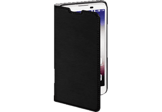Slim Bookcover LG X Screen High-Tech-PU Schwarz