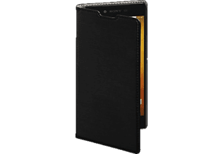 Slim Bookcover Sony Xperia XA High-Tech-PU Schwarz
