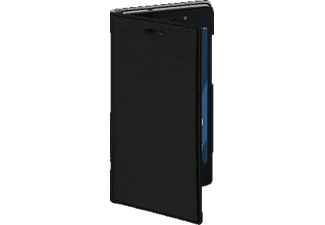 Slim Bookcover Wiko Lenny 3 High-Tech-PU Schwarz