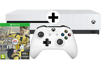 microsoft xbox one s bundle 500gb wei inkl fifa 17. Black Bedroom Furniture Sets. Home Design Ideas