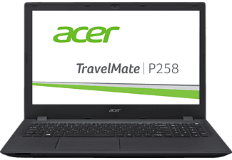 ACER TravelMate P258 (P258-M-53Z3), Notebook mit 15.6 Zoll Display, Core i5 Prozessor, 4 GB RAM, 500 GB HDD, HD-Grafik 520, Schwarz