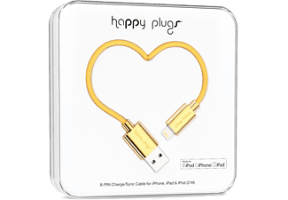 HAPPY PLUGS Ligthing till USB ström/synk-kabel - Gold