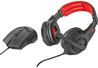TRUST GXT 784 Gaming Headset & Mouse - Svart