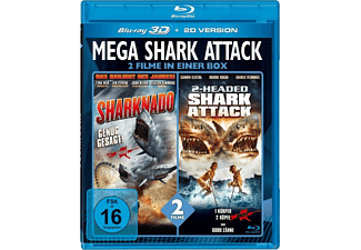 Mega Shark Attack - 2 Filme in einer Box [3D Blu-ray]