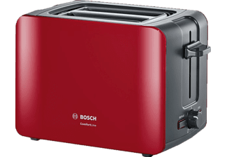 BOSCH TAT6A114 ComfortLine, Toaster, Rot/Anthrazit