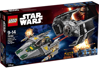 LEGO Vader's TIE Advanced vs. A-Wing Starfighter (75150)