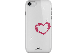 WHITE DIAMONDS Lipstick Heart, Backcover, iPhone 7, Crystal/Transparent