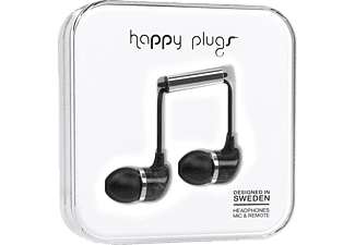HAPPY PLUGS In-Ear Svart Marmor