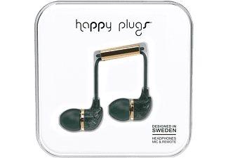 HAPPY PLUGS In-Ear Grön Marmor