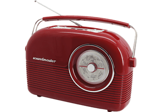 SOUNDMASTER DAB450RO, Digitalradio, DAB+, UKW, Rot