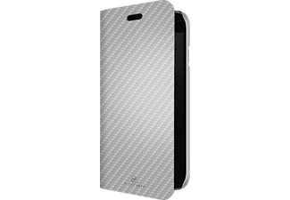 HAMA Flex Carbon, Bookcover, iPhone 7, Mikrofaser/Polyurethan (PU), Silber