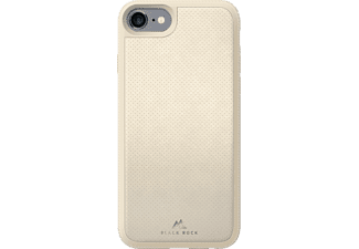 BLACK ROCK Material, Backcover, Apple, iPhone 7, Echtleder/Metall/Polycarbonat (PC)/Thermoplastisches Polyurethan (TPU), Ivory